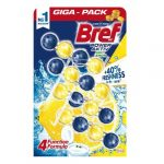 Bref Power aktív Wc frissítő giga- pack 4x50g  Lemon juicy