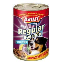 Panzi Regular Dog Adult konzerv eledel (szárnyas) 1240g