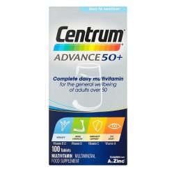 Centrum multivitamin tabletta 100db-os Advance 50+