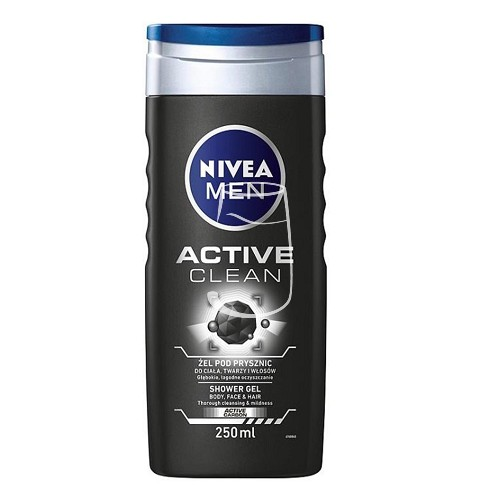 Nivea Men tusfürdő 250ml Active clean