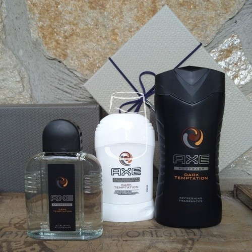 Axe ajándékcsomag Dark temptation (after shave, stick, tusfürdő)